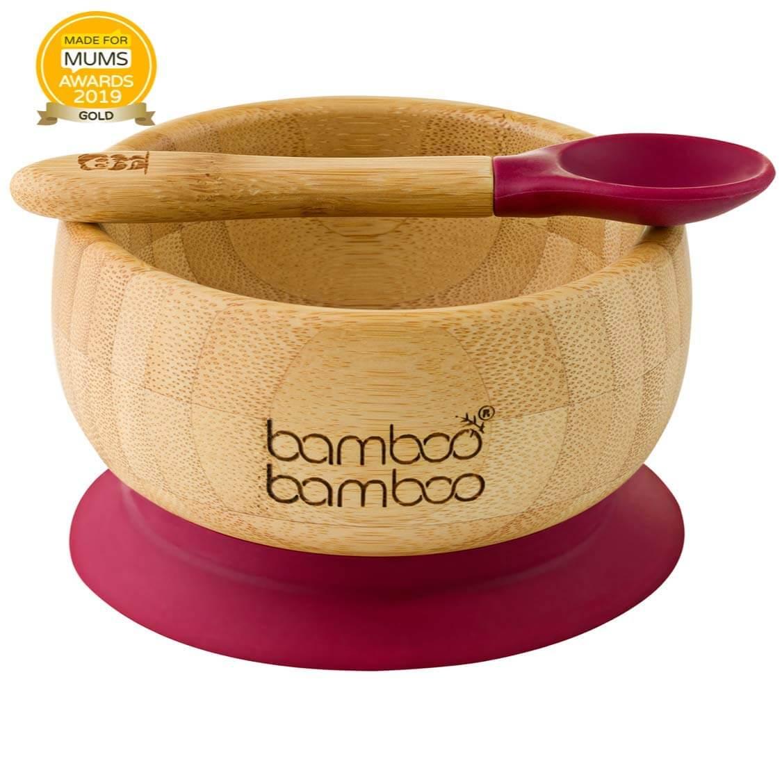 cuencos de madera de bambu