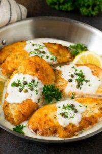 Escalopes de pollo
