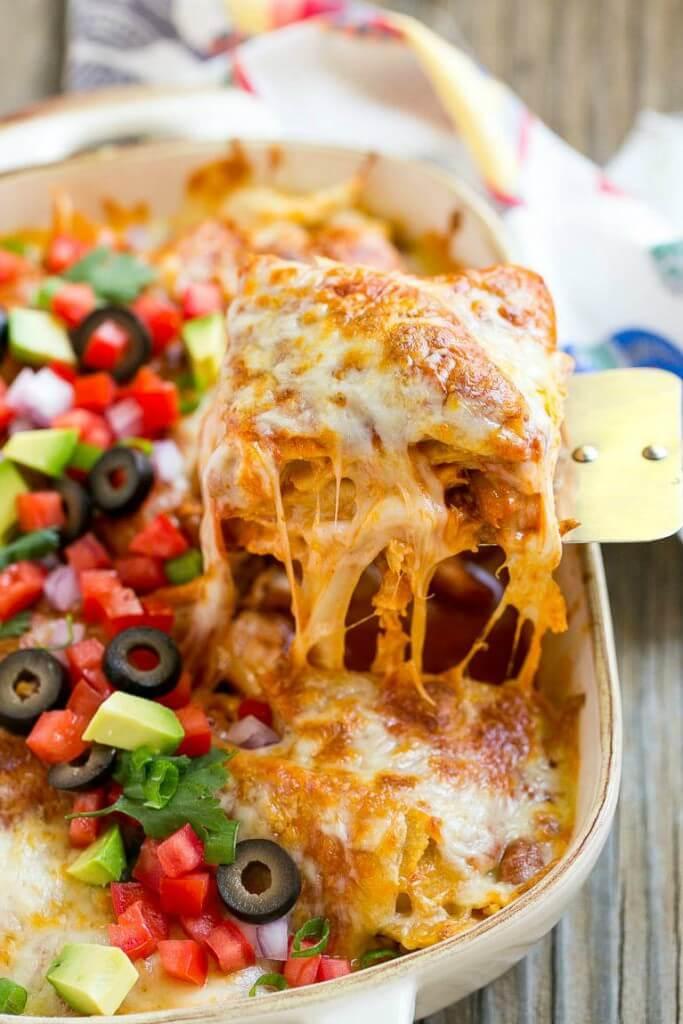 Cazuela de Enchilada de Pollo