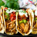Olla de cocción lenta Tacos de Pollo