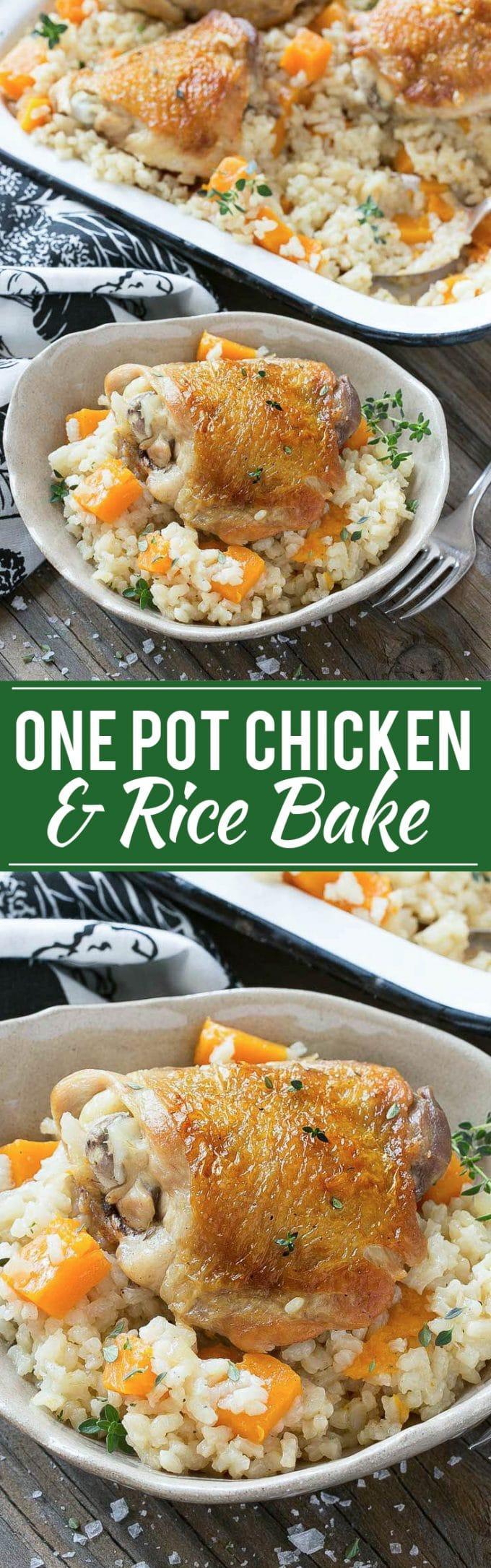 Receta de pollo y arroz frito |  Pollo en un tarro con arroz cremoso de parmesano |  Una olla de pollo y arroz |  Arroz Cremoso con Parmesano |  Cazuela de arroz con pollo y calabaza