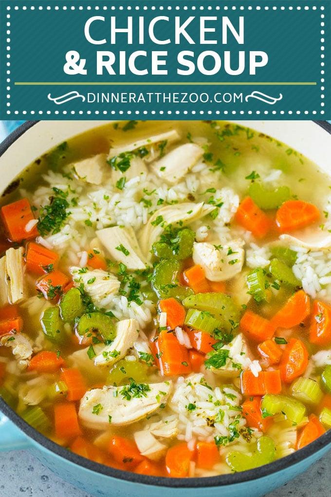 Receta de sopa de pollo y arroz |  Sopa de pollo casera |  Sopa de pollo fácil #sopa #pollo #arroz # cena # sin gluten #confortfood #dinneratthezoo