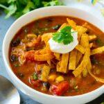 Sopa De Enchilada De Pollo