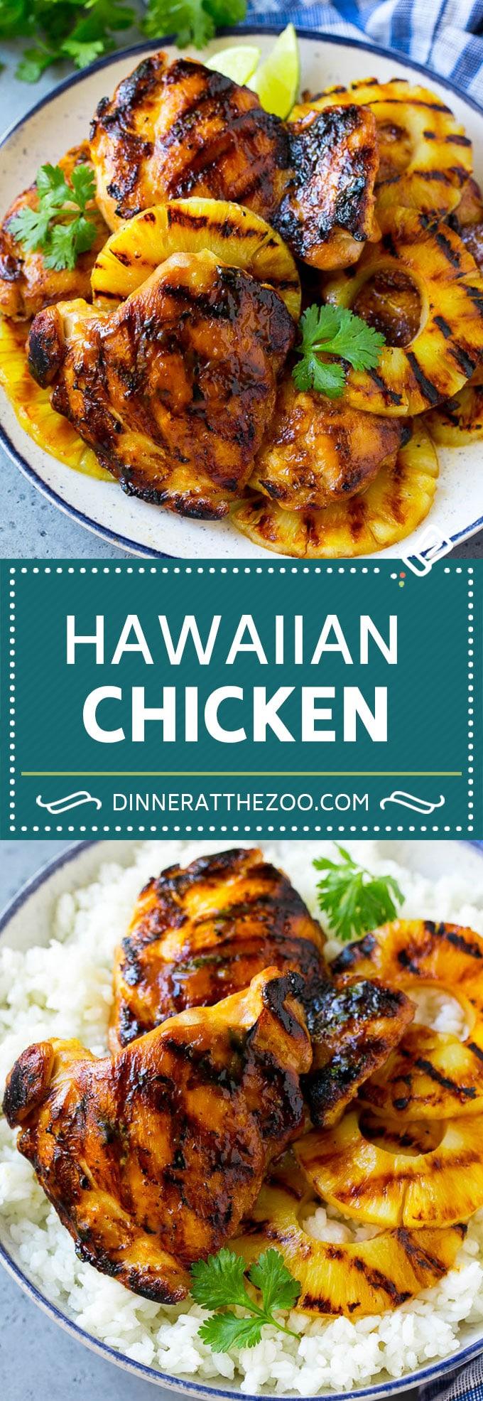 Receta de pollo hawaiano |  Pollo a la parrilla |  Pollo con piña #pollos # grill # cena #ananas #dinneratthezoo